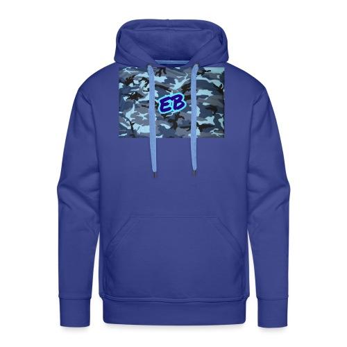 Ellibradyoffical blue camo - Men's Premium Hoodie