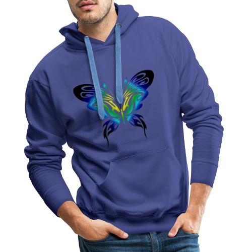 Motyl kolor - Bluza męska Premium z kapturem