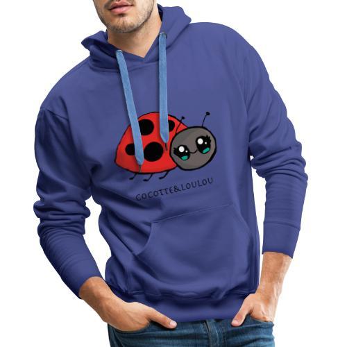 Pirouette la coccinelle - Sweat-shirt à capuche Premium pour hommes