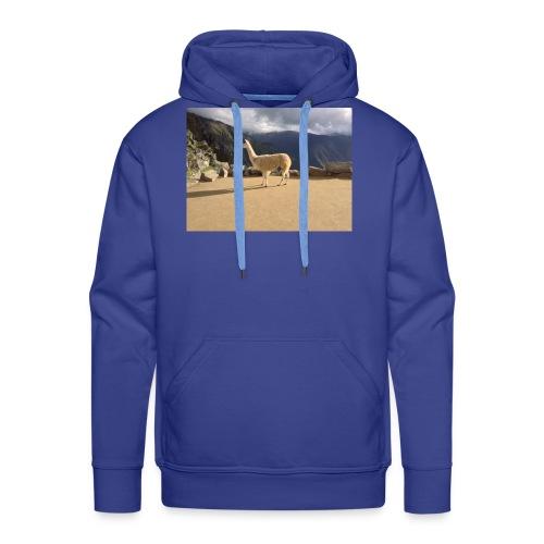 Lama la grace et la classe - Sweat-shirt à capuche Premium pour hommes