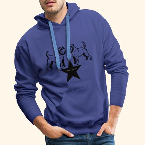 Brussels Griffon Logo - Sweat-shirt à capuche Premium pour hommes