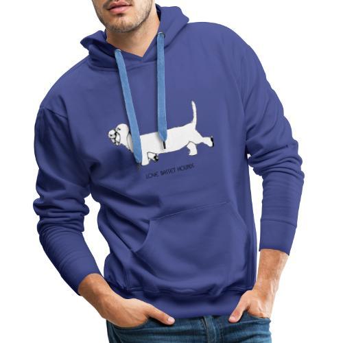 Love basset hounds - Herre Premium hættetrøje