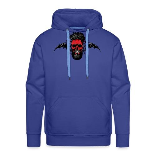 tete de mort hipster dragon tribal skull barbu mou - Sweat-shirt à capuche Premium pour hommes