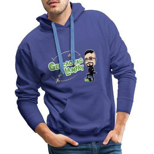 Geocaching With Lampay - Sweat-shirt à capuche Premium pour hommes