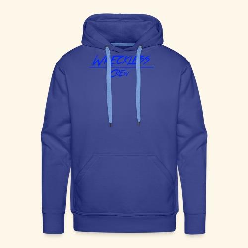 Wreckless crew logo blå - Premium hettegenser for menn