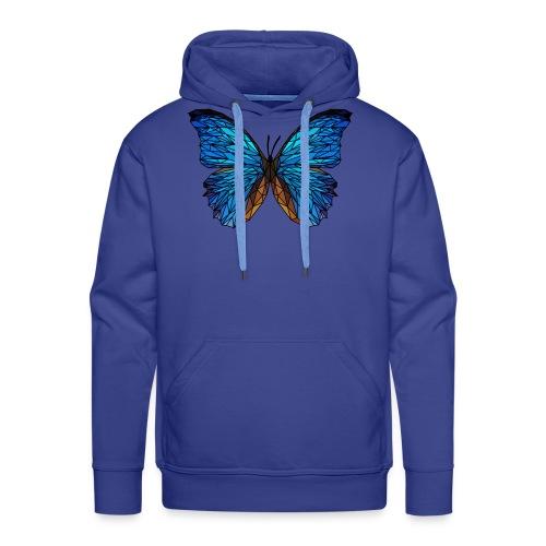 PAPILLON - LOW POLY (Outline) - Sweat-shirt à capuche Premium pour hommes