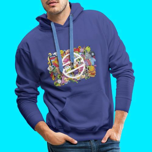 maglia logo doodle - Felpa con cappuccio premium da uomo