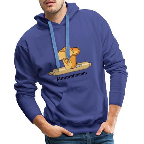 Brioche française et rouleau à patisserie - Sweat-shirt à capuche Premium pour hommes