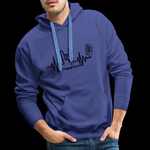 Logo + site noir - Sweat-shirt à capuche Premium pour hommes