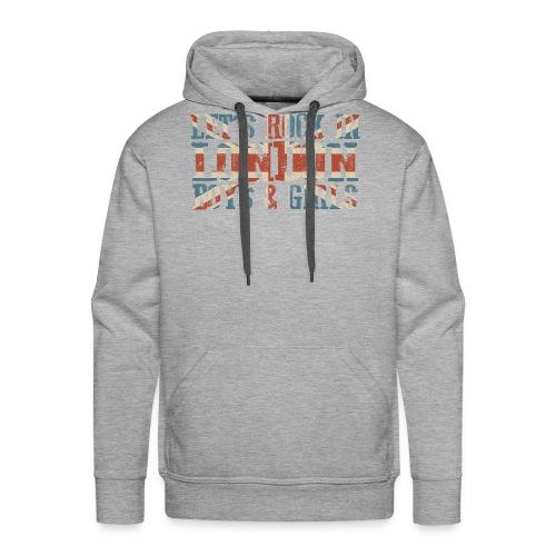 LET'S ROCK IN LONDON - Felpa con cappuccio premium da uomo