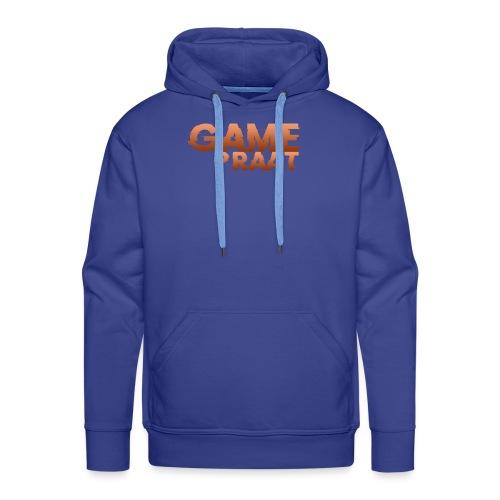 GamePraat Logo Oranje - Mannen Premium hoodie