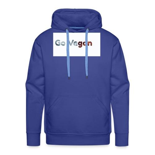 Go Vegan - motif Animal - Sweat-shirt à capuche Premium pour hommes