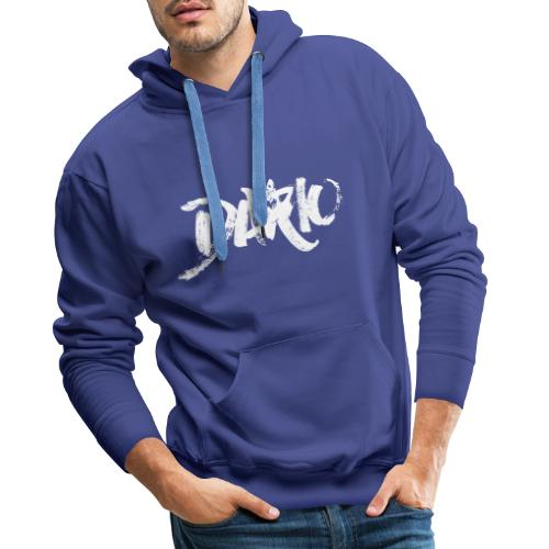 illustration logo blanc - Sweat-shirt à capuche Premium pour hommes