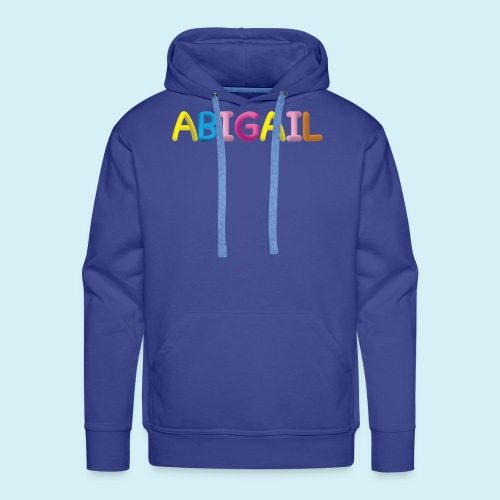 Fluffy Abigail Letter Name - Men's Premium Hoodie