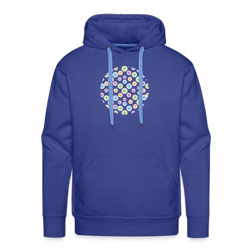 kropki - Bluza męska Premium z kapturem