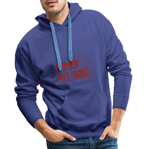 Gamer with heart - Men's Premium Hoodie