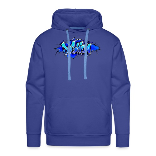GRAFFITI JOSHUA WALL BROKEN BLUE - Sweat-shirt à capuche Premium pour hommes