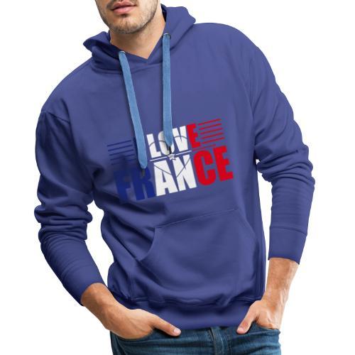 love france - Sweat-shirt à capuche Premium pour hommes