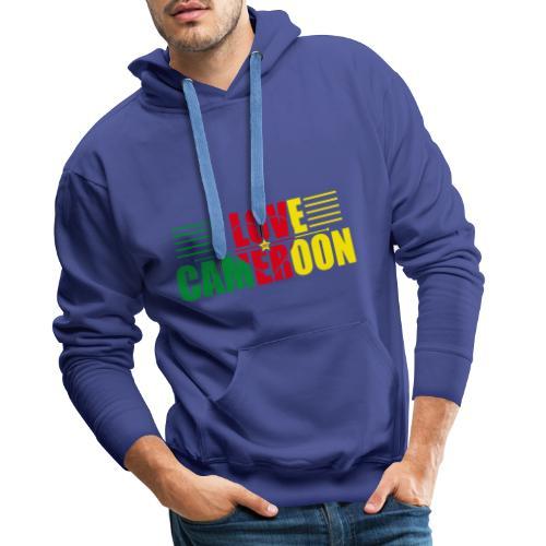 love cameroun - Sweat-shirt à capuche Premium pour hommes