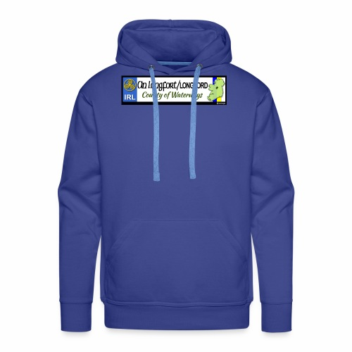 LONGFORD, IRELAND: licence plate tag style decal - Men's Premium Hoodie