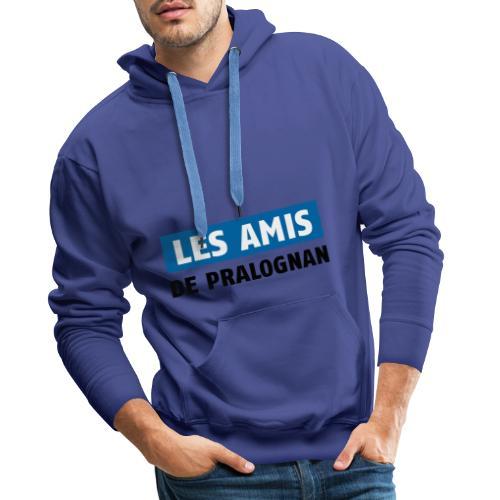 les amis de pralognan texte - Sweat-shirt à capuche Premium pour hommes