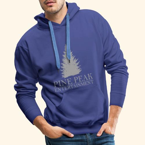 Pine Peak Entertainment Grey - Mannen Premium hoodie