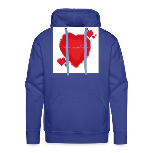 Amour inconditionnel - Sweat-shirt à capuche Premium pour hommes