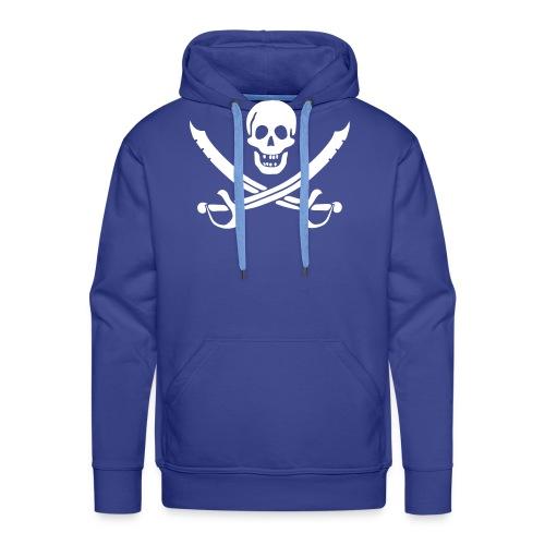 Piratenpullover Mann Weiß-Schwarz - Männer Premium Hoodie