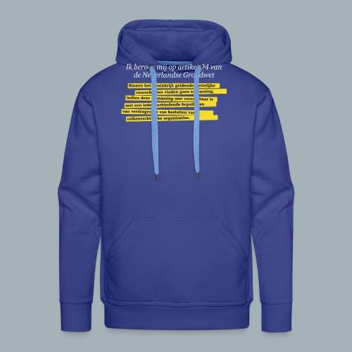 Nederlandse Grondwet T-Shirt - Artikel 94 - Mannen Premium hoodie