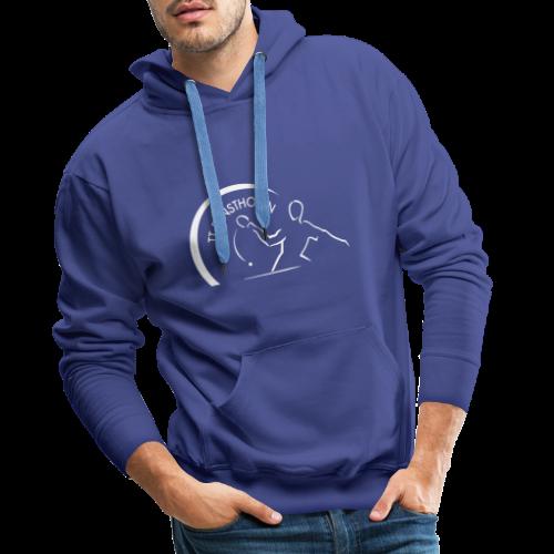 TTE Logo Weiss - Männer Premium Hoodie