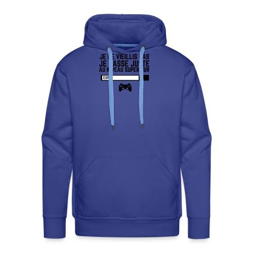 JE NE VIEILLIS PAS - PUNCHLINE - Sweat-shirt à capuche Premium pour hommes