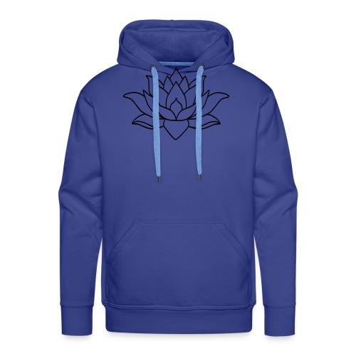 logo nur lotus pfade shirt - Männer Premium Hoodie