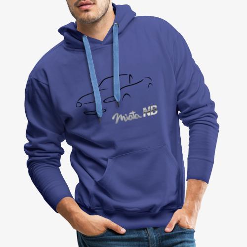 miata NB noire - Sweat-shirt à capuche Premium pour hommes