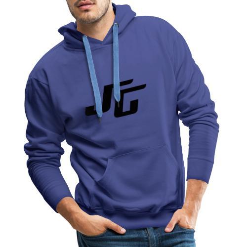 JG Logo schwarz - Männer Premium Hoodie