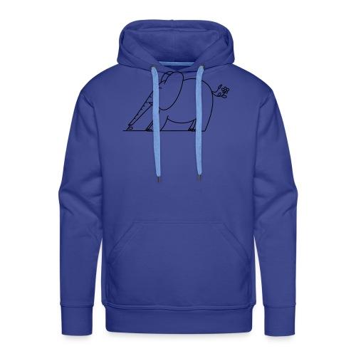 (eleftshirt) - Sweat-shirt à capuche Premium pour hommes