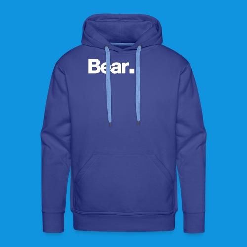 Bear. Retro Bag - Men's Premium Hoodie