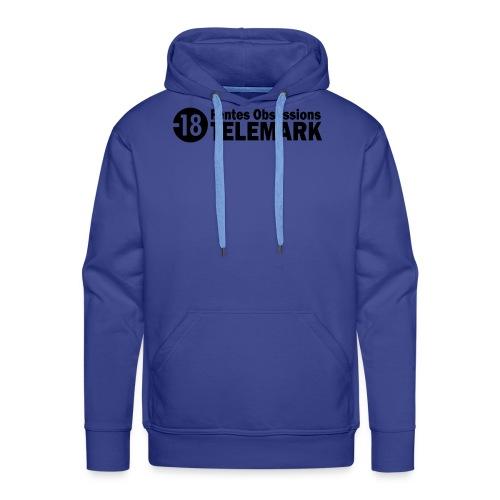 telemark fentes obsessions18 - Sweat-shirt à capuche Premium pour hommes