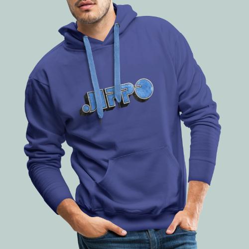 JIPPO LOGO (blue) - Miesten premium-huppari