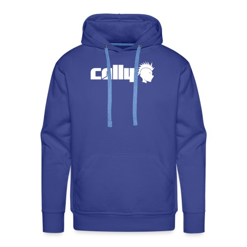 Cally White Logo - Men's Premium Hoodie