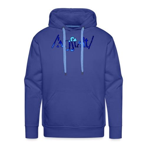 /'angstalt/ logo gerastert (blau/schwarz) - Männer Premium Hoodie