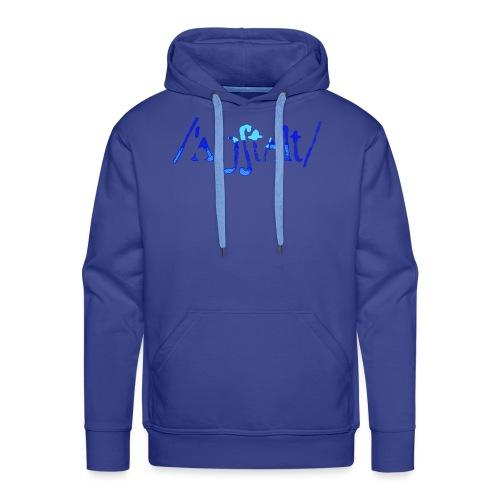 /'angstalt/ logo gerastert (blau/transparent) - Männer Premium Hoodie