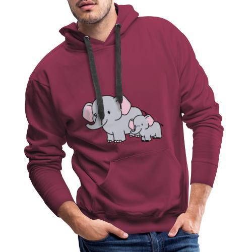 Elephants - Sudadera con capucha premium para hombre