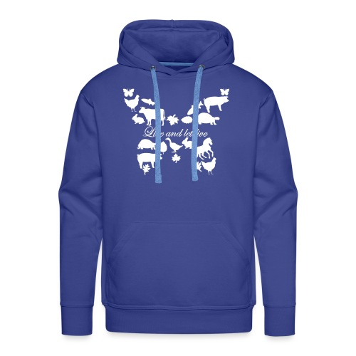 Live and let live - Schmetterling - Männer Premium Hoodie