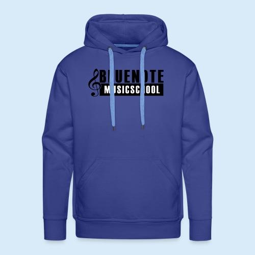 Bluenote Musicschool Logo Schwarz/Weiss - Männer Premium Hoodie