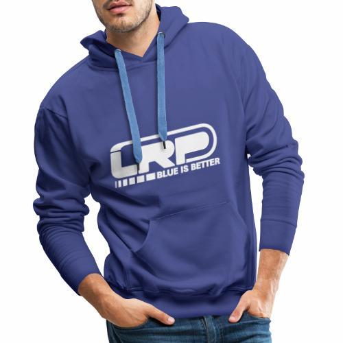 LRP Firmenlogo - Blue is better - White - Männer Premium Hoodie