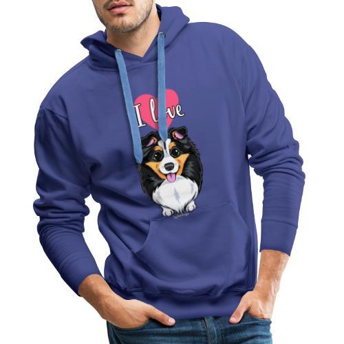 Sheltie Dog Love - Miesten premium-huppari