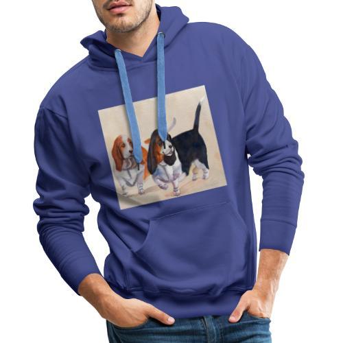 Basset hound_double-trot - Herre Premium hættetrøje