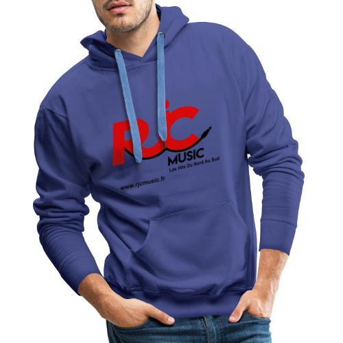 RJC Music avec site - Sweat-shirt à capuche Premium pour hommes
