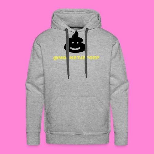Mannetje Poep Shit - Mannen Premium hoodie