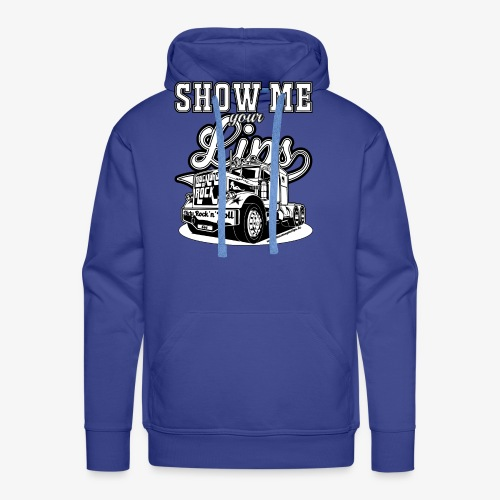 Show Me Your Lips b/w - Männer Premium Hoodie